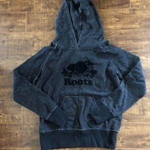 Roots black and grey hoodie